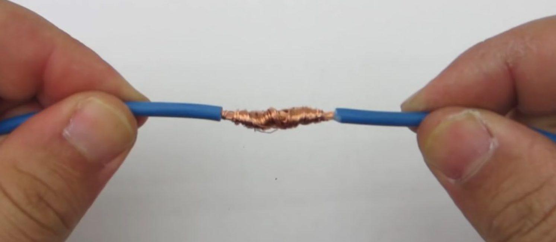 Так выглядит скрутка двух проводов