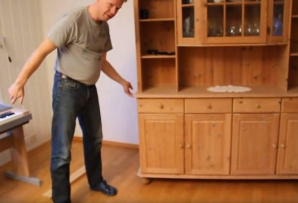 Передвижение тяжелого шкафа