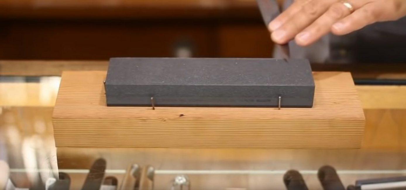 Положение ножа в конце второго прохода