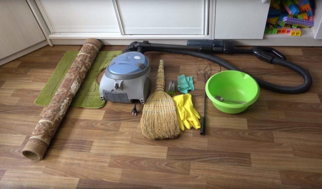 Инструменты для чистки ковра