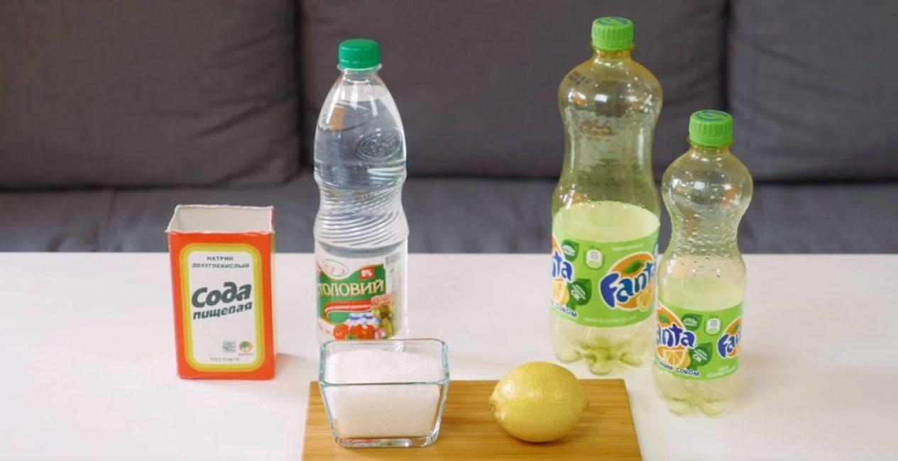 Необходимые компоненты для приготовления лимонада