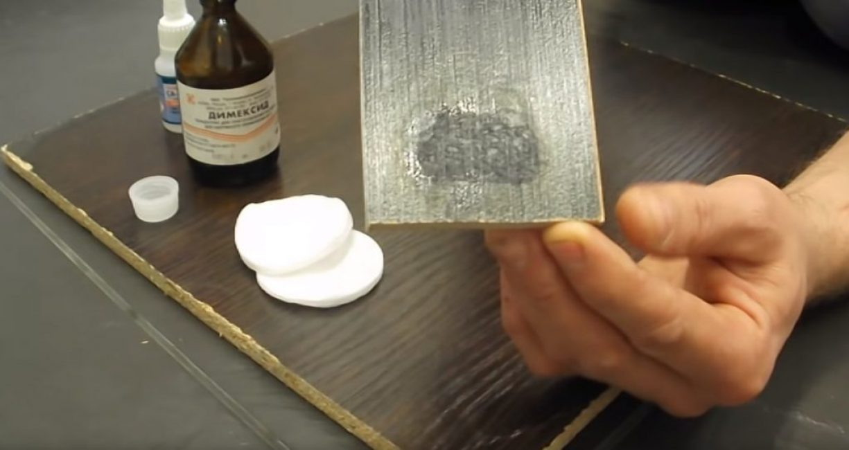 Налёт клея на поверхности ламината