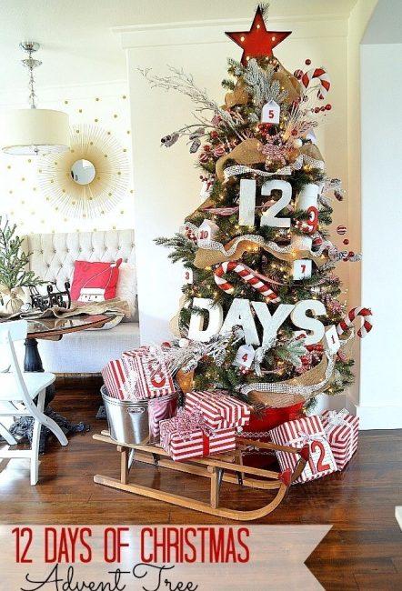 Эта елка – календарь, а цифры на игрушках