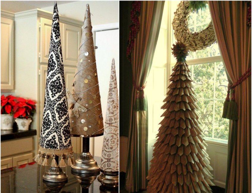 Праздничный текстиль в виде ёлки