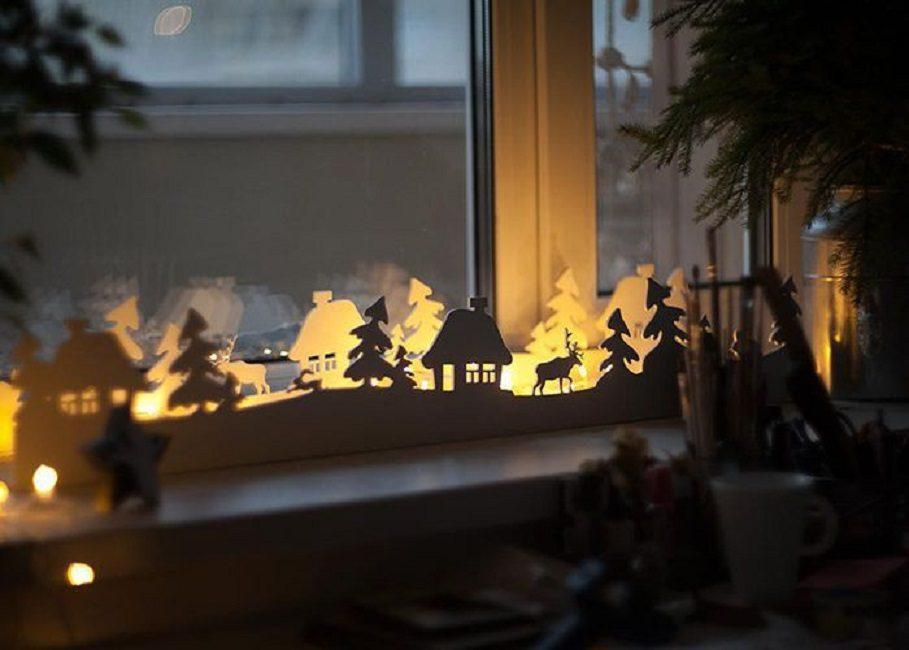 Собственная зимняя сказка прямо под окном