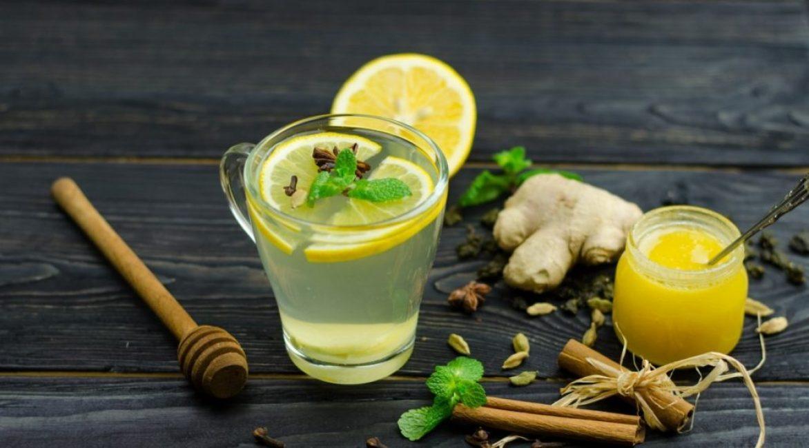 Зеленый чай с имбирем и мятой
