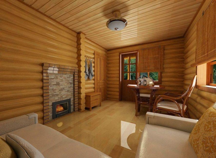 Комната отдыха, «гостиная» бани