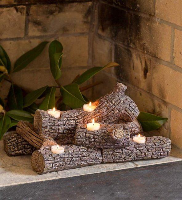 Спасем Санту в рождественскую ночь: вместо костра в камине используйте свечи в брусе