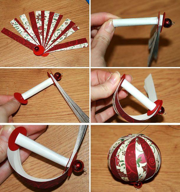 Как сделать шар из бумажных полосок