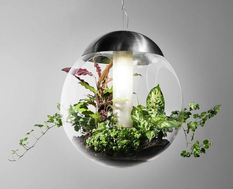 Интересная идея создания подсветки для мини-сада