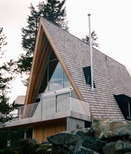 Дом-шалаш или дом-палатка