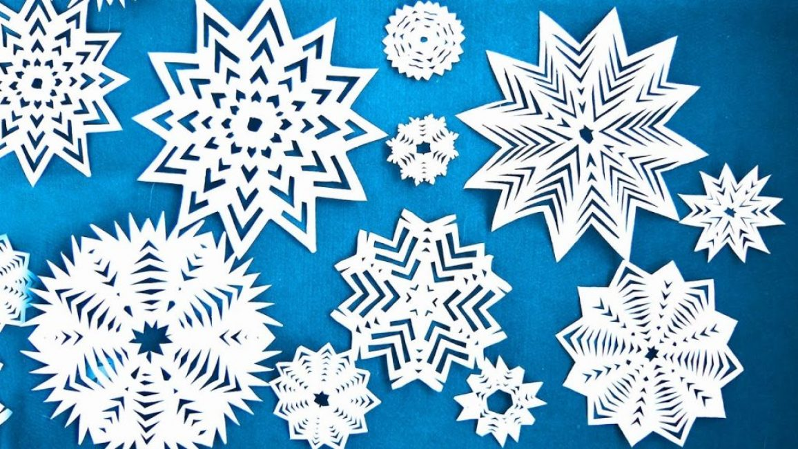 Изящные снежинки из бумаги