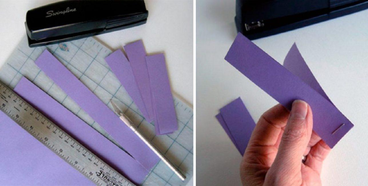 Полоски из бумаги