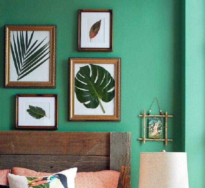 Произведения искусства, сделанные из растений своими руками, отлично украсят спальню