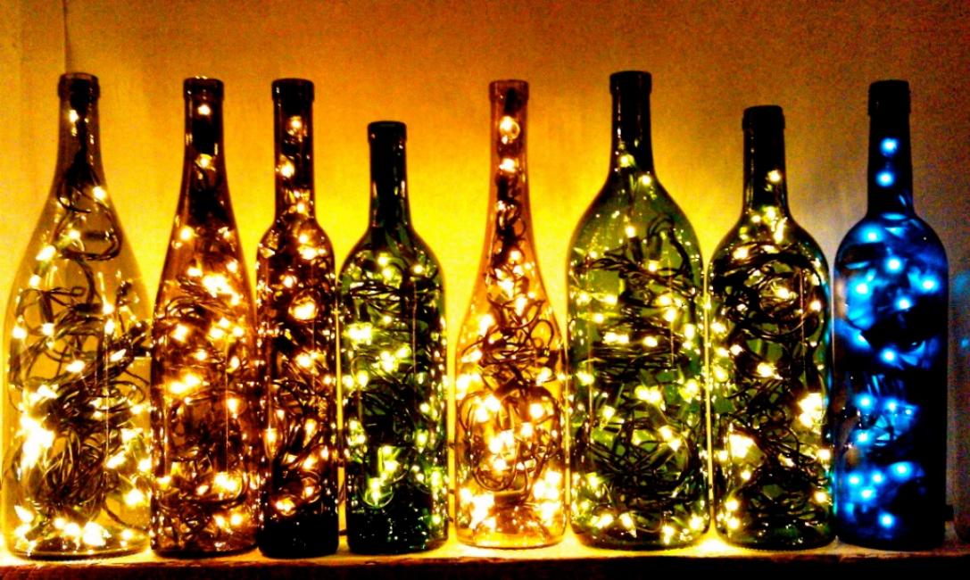 Украшения из пустых стеклянных и пластиковых бутылок