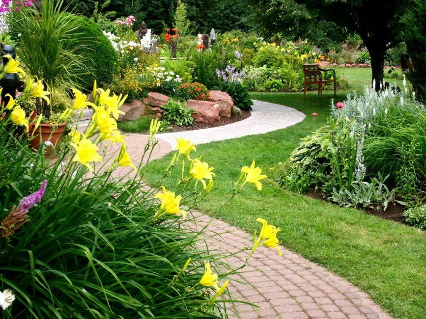 Плавные дорожки в саду