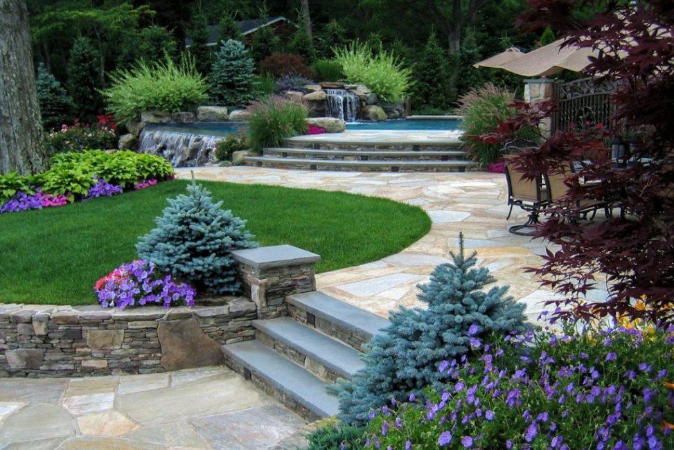 Многоуровневые террасные сады