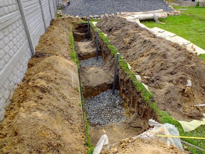 Пример реализации траншейной посадки кустов