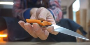 Как сделать нож 🔪 из ножниц своими руками? | Изготавливаем универсальный японский нож