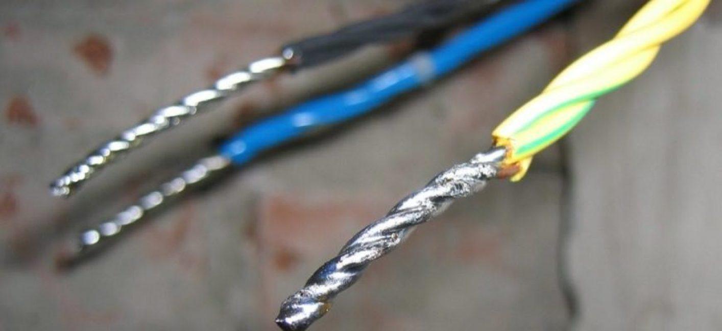 Спаянные провода