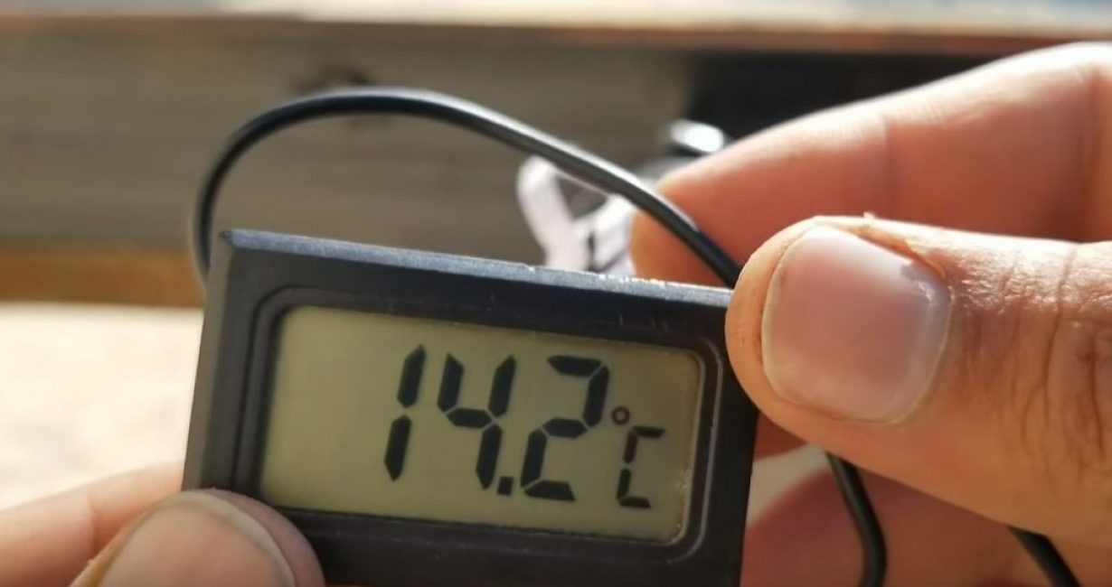 Измеряем температуру на улице