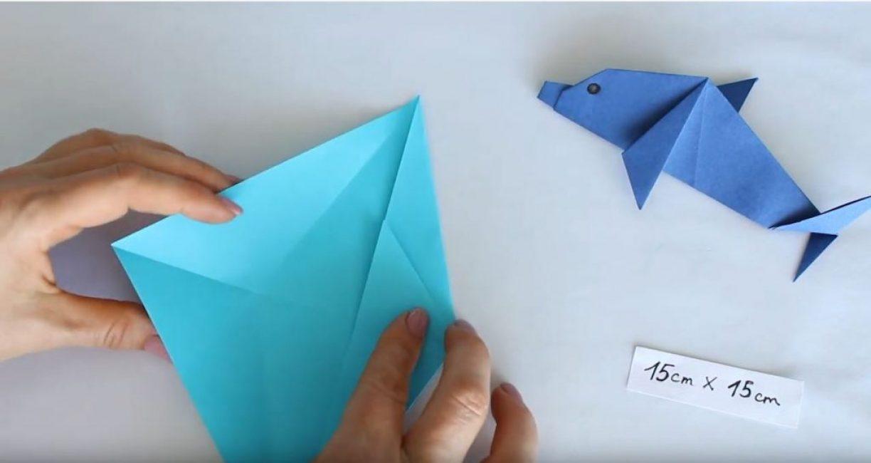 треугольник загибаем вверх