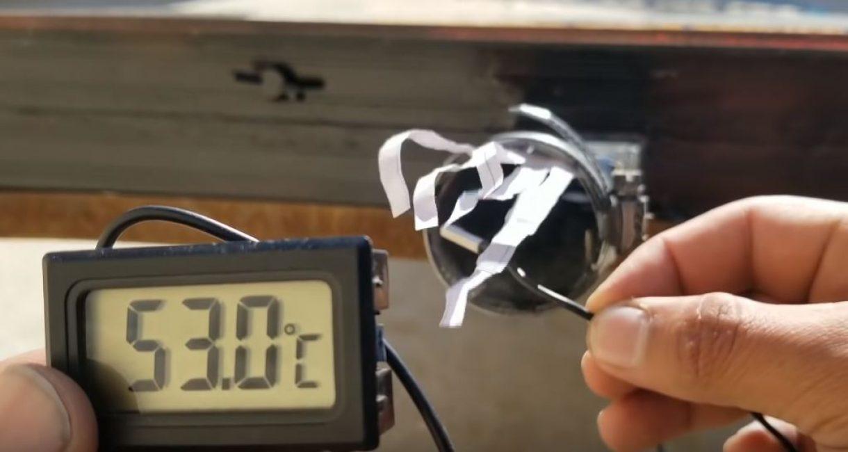 змеряем температуру на выходе коллектора