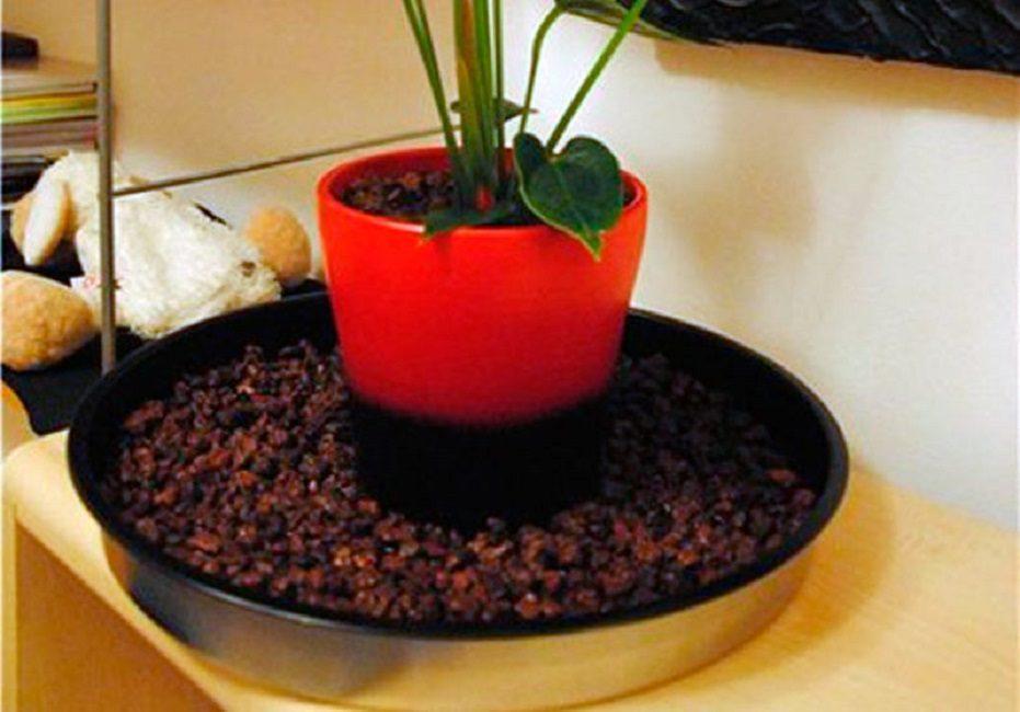 Поддон с галькой для горшечных растений