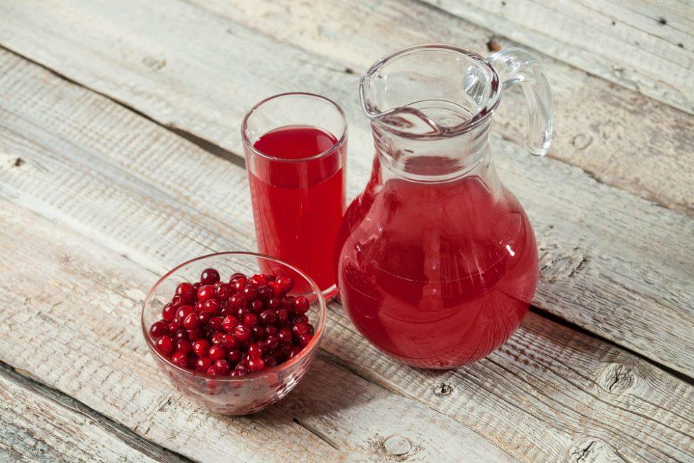 Вкусный морс для питья и полоскания горла