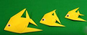 Рыбки оригами из бумаги для детей дошкольников🐟 | Простая схема +Видео