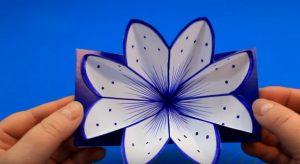 3Д открытка с цветами своими руками 💮: пошаговая инструкция по созданию открытки с сюрпризом