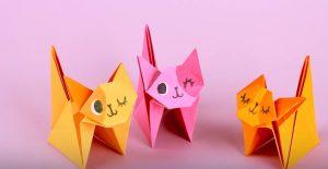 Как сделать котенка 😽 из бумаги своими руками — животное в доме, которое не нужно кормить и выгуливать | Видео