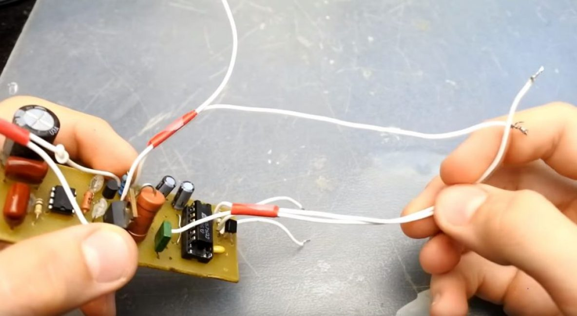Припаиваем к плате четыре пары проводов