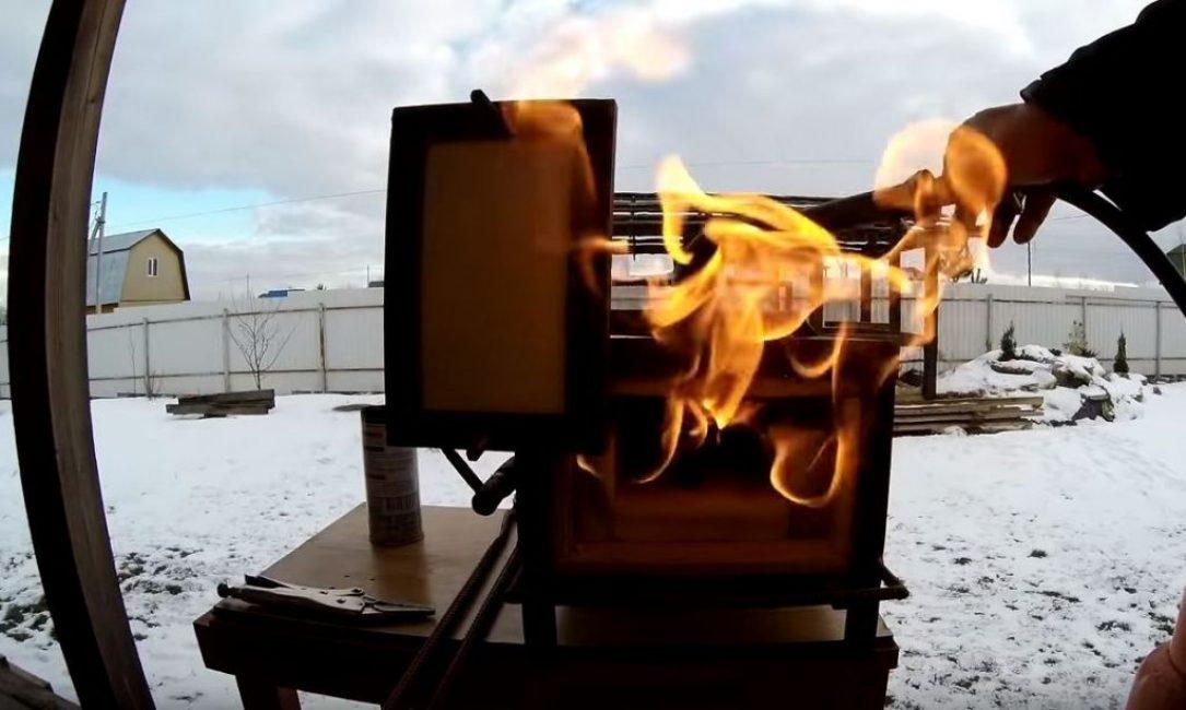 Используя газовую горелку и горн