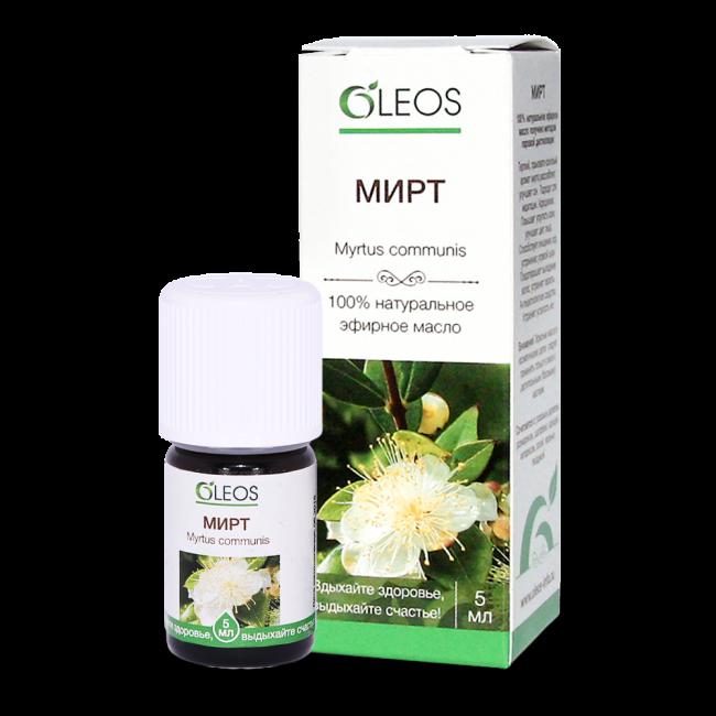Эфирное масло на основе мирта применяют в косметологии, медицине, ароматерапии
