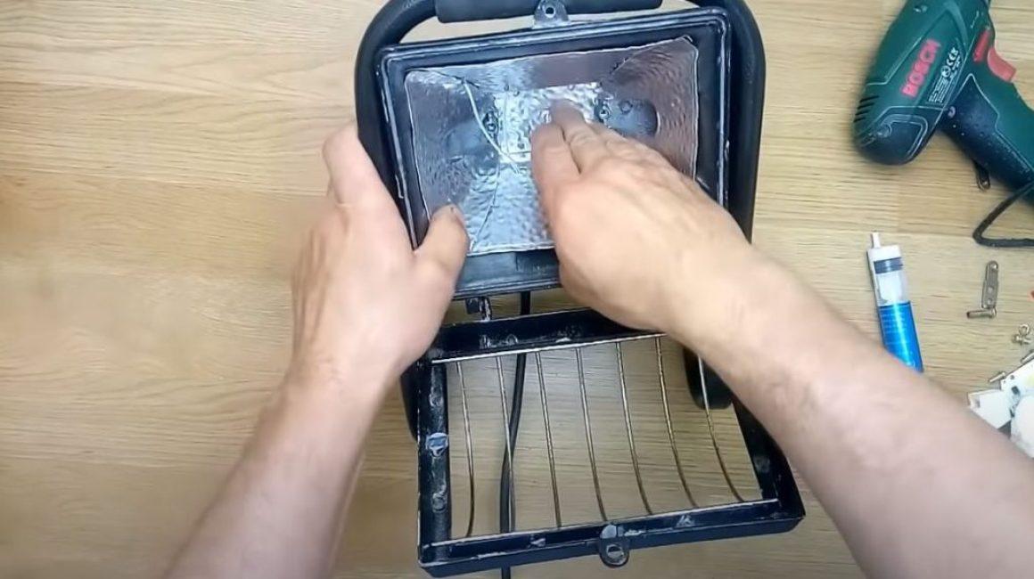 Помещаем его в корпус прожектора на термопасту