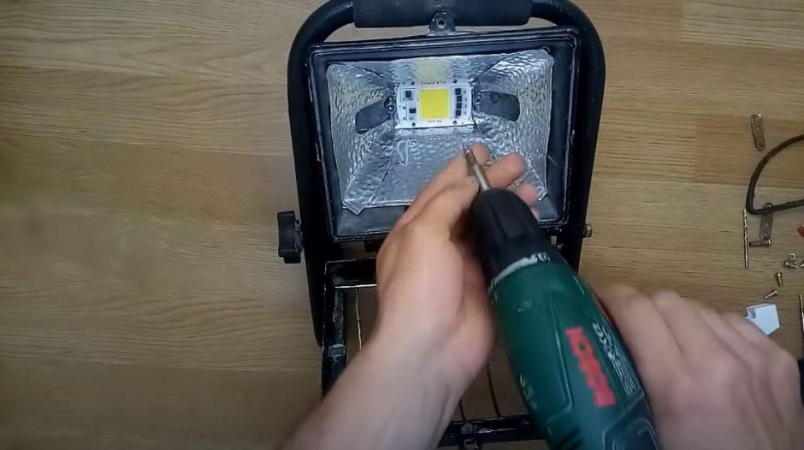 помещаем светодиодную матрицу