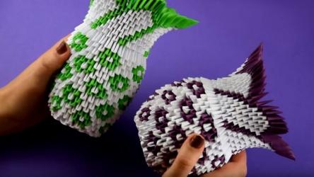 Как сделать вазу из бумаги? | Изумительный подарок 🎁 всего из нескольких листов бумаги