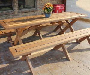 Большие возможности для творчества: изготавливаем стол для дачи своими руками | 125+ Фото Идей & Видео