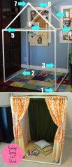 Как сделать детский домик своими руками? Подарим детям свой сказочный уголок для игр (80 Фото & Видео) +Отзывы