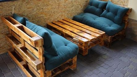 [ВИДЕО] Мебель из поддонов