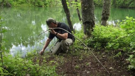 Как сделать самоподсекающую удочку для рыбалки своими рукам?